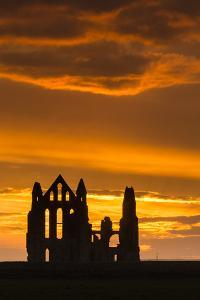 United Kingdom, England, North Yorkshire, Whitby. Whitby Abbey was founded in 657 AD by Oswy, the S by Nick Ledger
