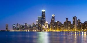 Usa, Illinois, Chicago. the City Skyline from North Avenue Beach. by Nick Ledger