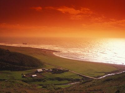 Enhanced Sunset on an Irish Coast