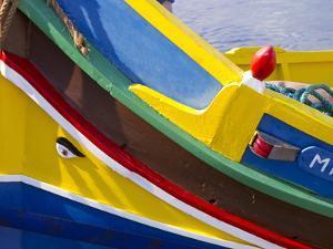 Detail of a Fishing Boat, St. Paul's Bay, Malta, Mediterranean, Europe by Nick Servian