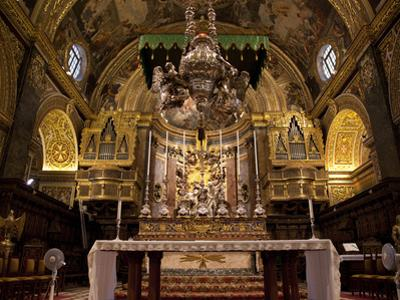 High Altar, St. John's Cocathedral, Valletta, Malta, Europe by Nick Servian