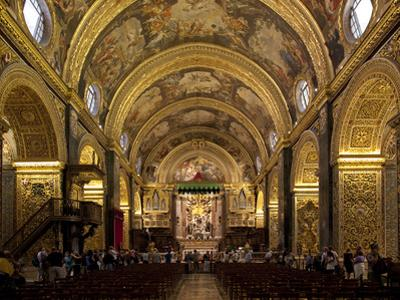Interior of St. John's Cocathedral, Valletta, Malta, Europe by Nick Servian