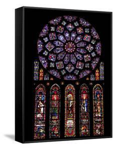 Rose Window, Stained Glass Windows in North Transept, Chartres Cathedral, UNESCO World Heritage Sit by Nick Servian