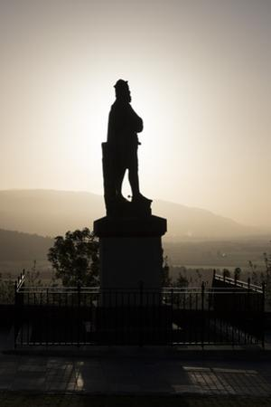 Silhouette of Statue of Robert the Bruce at Sunrise, Stirling Castle, Scotland, United Kingdom by Nick Servian