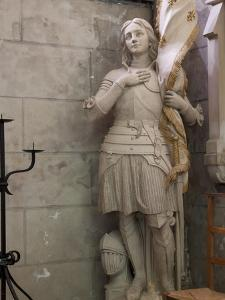 Statue of St. Joan of Arc, Dol Cathedral, Dol De Bretagne, Brittany, France, Europe by Nick Servian