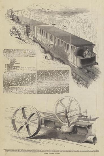 Nickels' Atmospheric Railway--Giclee Print