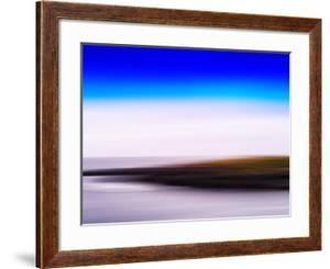 Horizontal Vivid Motion Blur Nordic Fjord Island Landscape Abstr by Nickolay Loginov