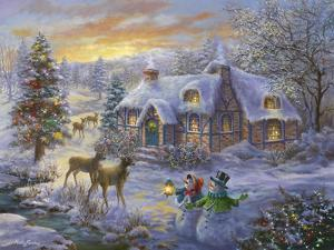 Christmas Cottage by Nicky Boehme