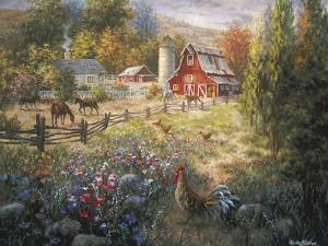 Grazing the Fertile Farmland by Nicky Boehme