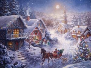 In a One Horse Open Sleigh by Nicky Boehme