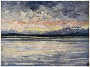 Mountains and Fjord Facing Molde, 1905 by Nico Jungman