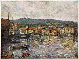 The Town of Molde, 1905 by Nico Jungman
