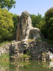 Apennine Colossus by Giambologna, Il Gigante Dell'Appennino, Villa Demidoff, Florence, Italy by Nico Tondini
