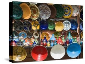 Ceramics for Sale, Souk, Medina, Marrakech (Marrakesh), Morocco, North Africa by Nico Tondini