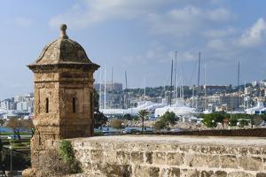 City ramparts, Palma de Mallorca, Majorca, Balearic Islands, Spain. by Nico Tondini