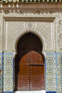 Door in the Souk, Marrakech, Morocco by Nico Tondini