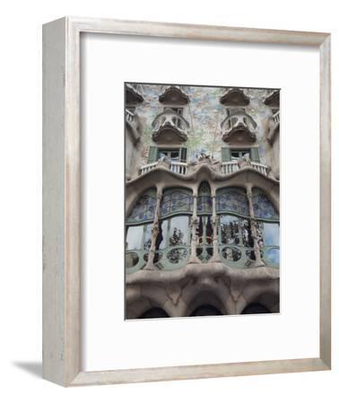 Facade of Casa Batllo by Gaudi, UNESCO World Heritage Site, Passeig de Gracia, Barcelona, Spain