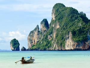 Fishing Boat on Ko Phi Phi Island, Andaman Sea, Thailand, Southeast Asia, Asia by Nico Tondini