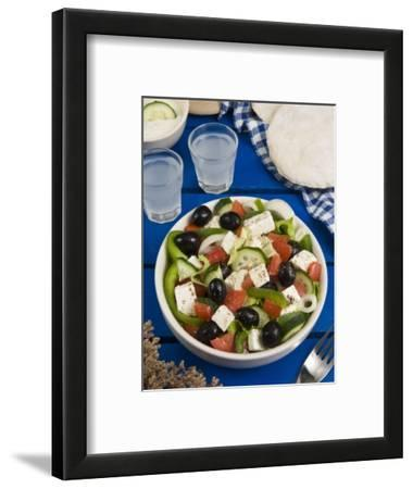 Greek Salad with Feta and Olives, Greek Food, Greece, Europe