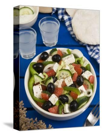 Greek Salad with Feta and Olives, Greek Food, Greece, Europe