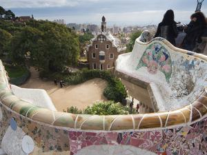 Guell Park (Parc Guell), UNESCO World Heritage Site, Barcelona, Catalunya (Catalonia), Spain by Nico Tondini