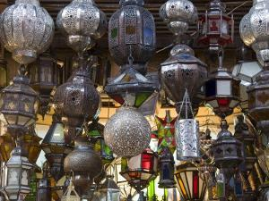 Lanterns for Sale in the Souk, Marrakech (Marrakesh), Morocco, North Africa, Africa by Nico Tondini