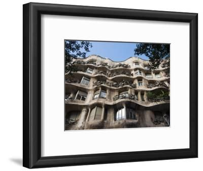 Mila House (Or La Pedrera) by Antoni Gaudi, UNESCO World Heritage Site, Barcelona, Spain