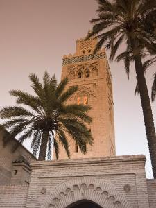 Minaret of the Koutoubia Mosque, UNESCO World Heritage Site, Marrakesh (Marrakech), Morocco, North  by Nico Tondini