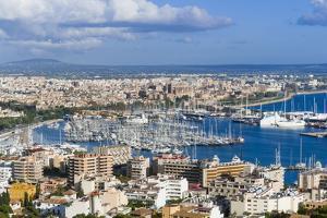 Palma De Majorca Harbor Bay from Bellver Castle by Nico Tondini