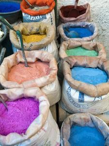 Pigments and Spices for Sale, Medina, Tetouan, UNESCO World Heritage Site, Morocco, North Africa, A by Nico Tondini