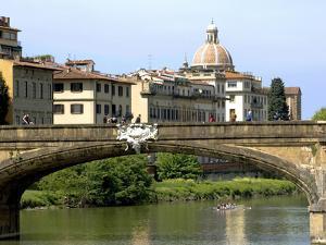 Ponte Santa Trinita, Arno River, Florence, UNESCO World Heritage Site, Tuscany, Italy by Nico Tondini