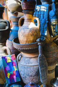 Pottery for Sale in the Souk, Medina, Marrakech, Morocco by Nico Tondini