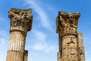 Roman Corinthian Capital, Utica Punic and Roman Archaeological Site, Tunisia, North Africa by Nico Tondini