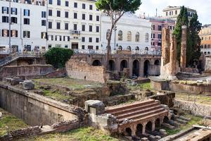 Ruins of Roman Temples at Area Sacra Di Largo Di Torre Argentina, Rome, UNESCO World Heritage Site by Nico Tondini