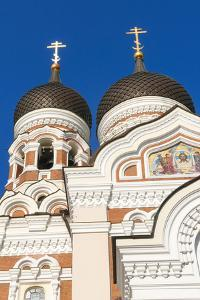 Russian Orthodox Alexander Nevsky Cathedral in Toompea, Old Town, Tallinn, Estonia, Baltic States by Nico Tondini