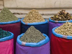 Spices for Sale, Souk in the Medina, Marrakech (Marrakesh), Morocco by Nico Tondini