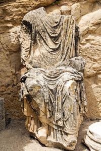 Statue of Marcus Aurelius, Roman ruins, Dougga Archaeological Site, Tunisia by Nico Tondini