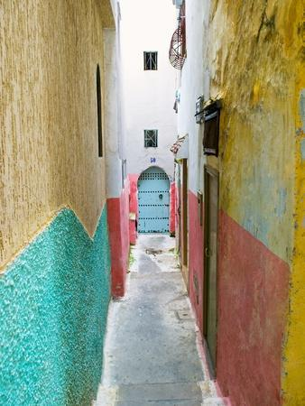 Street in the Kasbah, Tangier, Morocco, North Africa, Africa