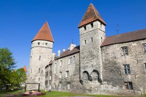 The Old City Walls of the Old Town of Tallinn, Estonia, Baltic States, Europe by Nico Tondini