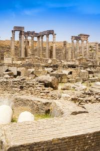 The Theatre, Roman ruins, Dougga Archaeological Site, Tunisia by Nico Tondini