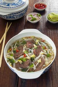 Vietnamese Pho beef broth, Vietnam, Asia by Nico Tondini