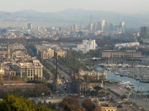 View of Barcelona from Mirador del Alcade, Barcelona, Catalunya (Catalonia) (Cataluna), Spain by Nico Tondini