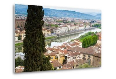 View of City Center of Florence, River Arno, Florence (Firenze), Tuscany, Italy, Europe