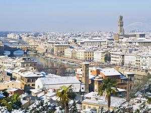 View of City From Piazzale Michelangelo, Florence, UNESCO World Heritage Site, Tuscany, Italy by Nico Tondini