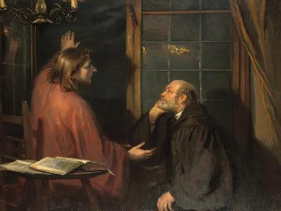Nicodemus and Christ-Fritz von Uhde-Giclee Print
