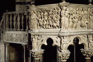 Glimpse of Pulpit, 1265-1268 by Nicola Pisano