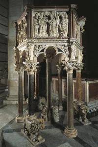 Pulpit of Baptistery of St John, 1255-1260 by Nicola Pisano
