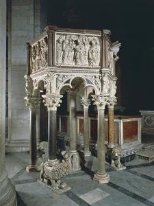 Pulpit of Baptistery of St John by Nicola Pisano