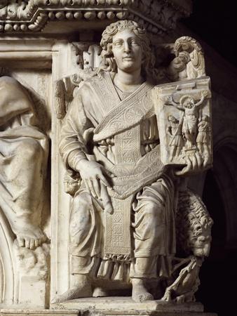 St John Baptist, Corner Statue from Pulpit, Baptistery of St John, 1255-1260