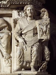 St John Baptist, Corner Statue from Pulpit, Baptistery of St John, 1255-1260 by Nicola Pisano